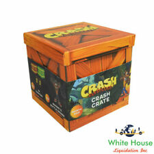 Crash Bandicoot Crash Crate Loot Box w/ Mug, Magnets, Bottle Opener, & Stickers