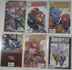 Thunderbolts Lot of 6 #101,102,105,109,New 1,Life Sentences Marvel 2006 Comics