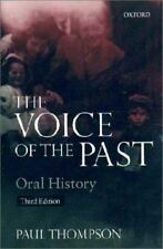 The Voice of the Past: Oral History (Opus Books)-ExLibrary