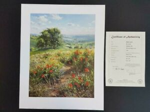 Rex Preston Hillside Poppies Limited Edition RARE PRINT SOLD OUT