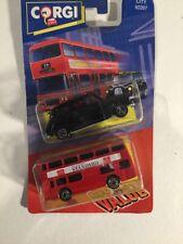1992 Corgi London Bus, London Taxi On Card In Blister City 92207