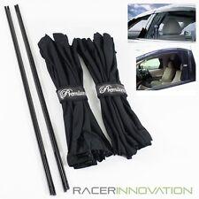 2PC 70cmx42cm Black Mesh Interlock Car Window Curtain for Couple/Sedan/Compact