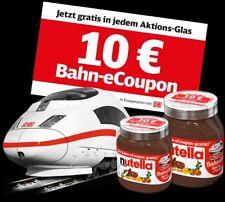 10 Euro DB eCoupon Deutsche Bahn Gutschein bis 30.09.2018 PAYPAL - Nutella