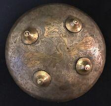 Rondache de chasse Inde ou Indonésie à décors de paons Bouclier