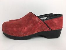 DANSKO WOMENS CLOGS PROFESSIONAL RED SIZE 38 / 7.5 - 8 US