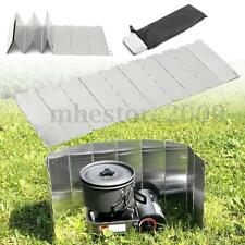 10 Plates Foldable Camping Cooking Cookout Gas Stove Wind Shield Screen Outdoor