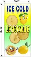 15 X 30 Vinyl Banner Lemonade Drink W Cartoon Fruit Choose Fruit Flavor Fun