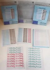 Lot 3 Birthday Party Baby & Wedding Shower 5 Page Rub-On Transfers Invitations