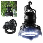 Portable Outdoor Tent Light Fan Camping LED Lantern Cool Hiking Gear Equipment