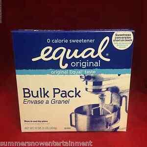 Equal Sugar Substitute NutraSweet 1 lb Bulk Pack Kosher