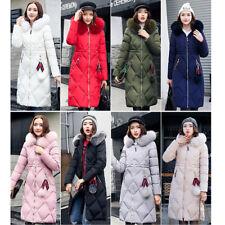 Damen Mode Kunstpelzkragen Kapuzen Winterjacke Daunen Mantel parka Zip Navahoo