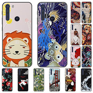 For Motorola Moto One Fusion Plus E5 Case Retro Painted Soft Silicone TPU Cover