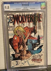 Wolverine #10 CGC 9.8 Sabretooth Appearance White Pages!