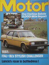 Motor magazine 2 August 1980 featuring Morris Ital road test