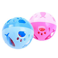 10cm Big Cat Kitten Puppy Dog Pet Play Balls & Jingle Bell Chase Rattle Play Toy