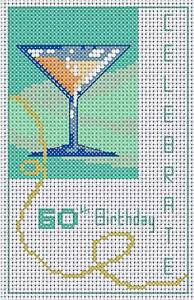 """Daisy Hill Designs 60th Birthday Card Kit-Counted Cross Stitch Kit, Card 8"""" x 6"""""""