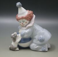 LLADRO PORCELAIN CLOWN PIERROT WITH PUPPY AND BALL #5278