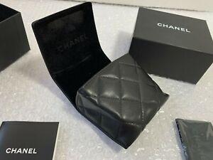 Case Chanel Folding Sunglasses Black Authentic Eyeglasses Italy Cc