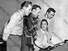 Vintage Poster Art RePrint of Elvis, Jerry Lee Lewis, Johnny Cash & Carl Perkins