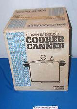 unused PRESTO 22 QT Aluminum Deluxe PRESSURE COOKER CANNER --- complete BOXED