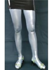 SILVER shiny stretch hold-up STOCKINGS AP-41-SIL, FREE UK DELIVERY