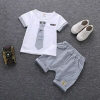 Children Clothing Set Baby Boy Clothes Summer Kids Cotton Cute Outfit Costumes