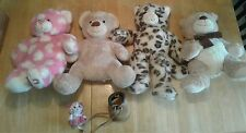 Lot of 4 stuffed bears, 3 of them Build a Bear