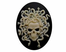 40x30mm Emo medusa Skull snake Cameo Day of the Dead jewelry cosplay zombie 821x