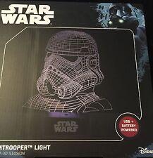 Disney Star Wars Stormtrooper Light - Laser Etched Acrylic Stormtrooper - New