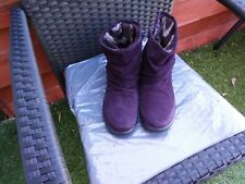BNWOT LADIES PURPLE SUEDE MID CALF BOOTS BY HOTTER SIZE 6