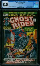 Marvel Spotlight 5 CGC 8.0  1st Ghost Rider ow/w pages!