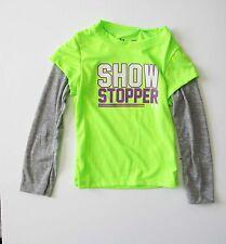 Under Armour Toddler Girls Show Stopper Long Sleeve Tee Hyper Green Sz 2T - NWT