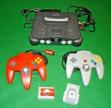 Nintendo 64 video game console bundle with storage cart