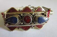 Ancien Bracelet avec incrustations de Pierres Naturelles 16 cms