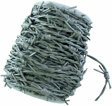 Silver /Grey Leather Barbed Wire