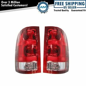Tail Lights Taillamps Left & Right Pair Set For 07-13 GMC Sierra 1500 2500 3500