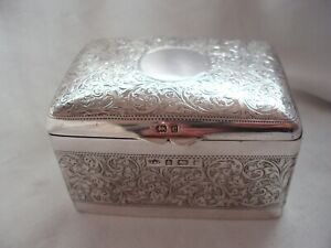 JEWEL BOX EDWARDIAN STERLING SILVER BIRMINGHAM 1904