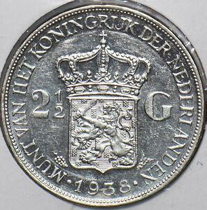 Netherlands 1938 2 1/2 Gulden 295911 combine shipping