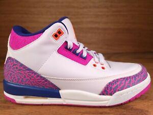 Air Jordan 3 Retro GG 'Barely Grape' (GS) Shoes Sz 6.5Y (Womens 8) 441140 500