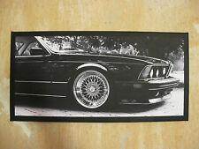 BMW E24 6er Bild Leinwand KUNSTDRUCK 80x40cm Keilrahmen POP ART Poster NEU