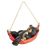 Summer Snooze Black Bear With Rope Design Toscano Exclusive Hand Painted Statue