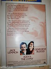 Alex & the GypseyVintage Movie Poster ROLLED 1974 One Sheet 1 Sheet Jack Lemmon