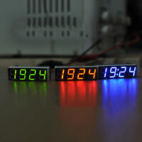 Digital LED Electronic Clock Time + Thermometer + Voltmeter for 12V car Hot TW