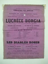 affiche théâtre sedan lucrèce borgia victor hugo les diables roses chevrier 1875
