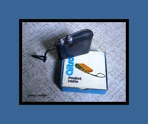 aitron AIE-1441-E NIB pocket radio MW & LW 6 TRANSISTOR 1 DIODE Black Vintage