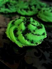 4 Dozen! Homemade Green Spritz Butter Sugar Cookies + Gift Box-Free Shipping