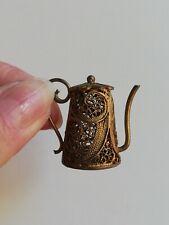Dinette ANCIENNE, poupée ancienne,miniature, filigrané, doré