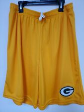 0724 Mens NFL GREEN BAY PACKERS Polyester Jersey SHORTS Embroidered Gold New
