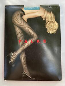Falke Fashion Tights 40306 Size Medium - Color Atlantis Made In Germany