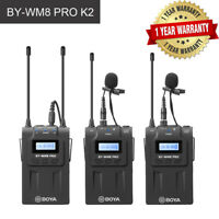 BOYA WM8 PRO K2 UHF Dual Receiver Wireless Microphone System for DSLR Canon Sony